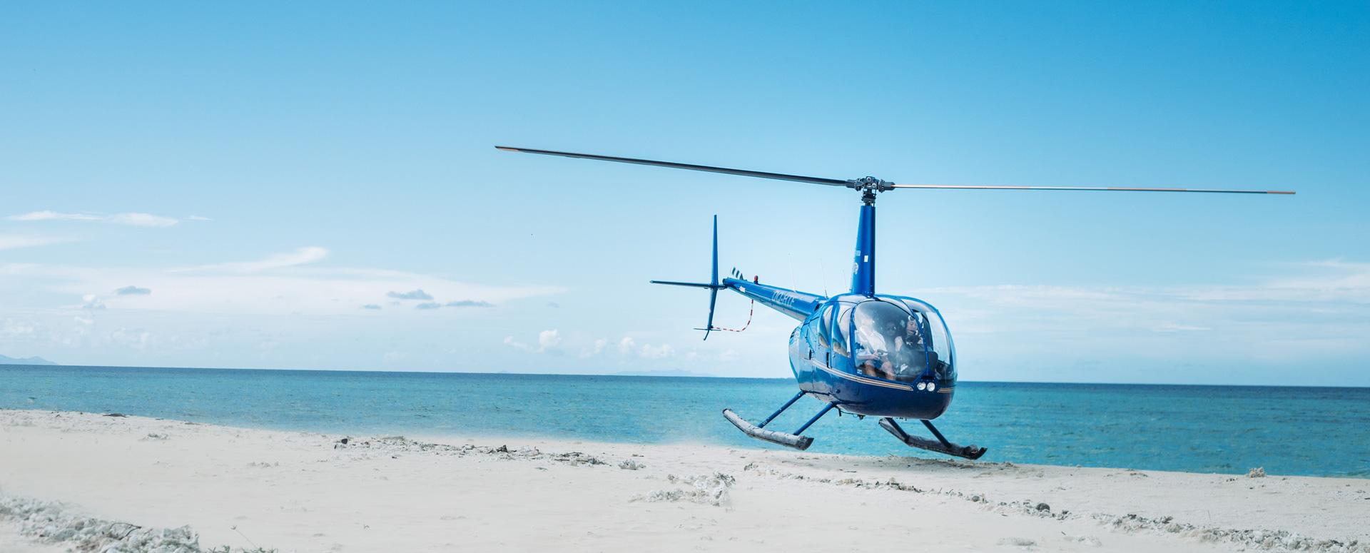 Helikopter vlucht naar een luxe resort in Griekenland!